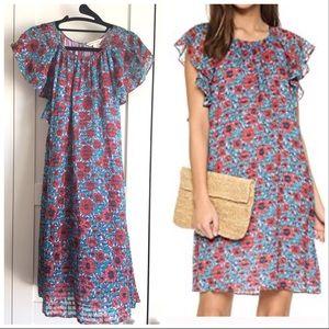 Rebecca Taylor Lindsay Flutter Sleeve Dress